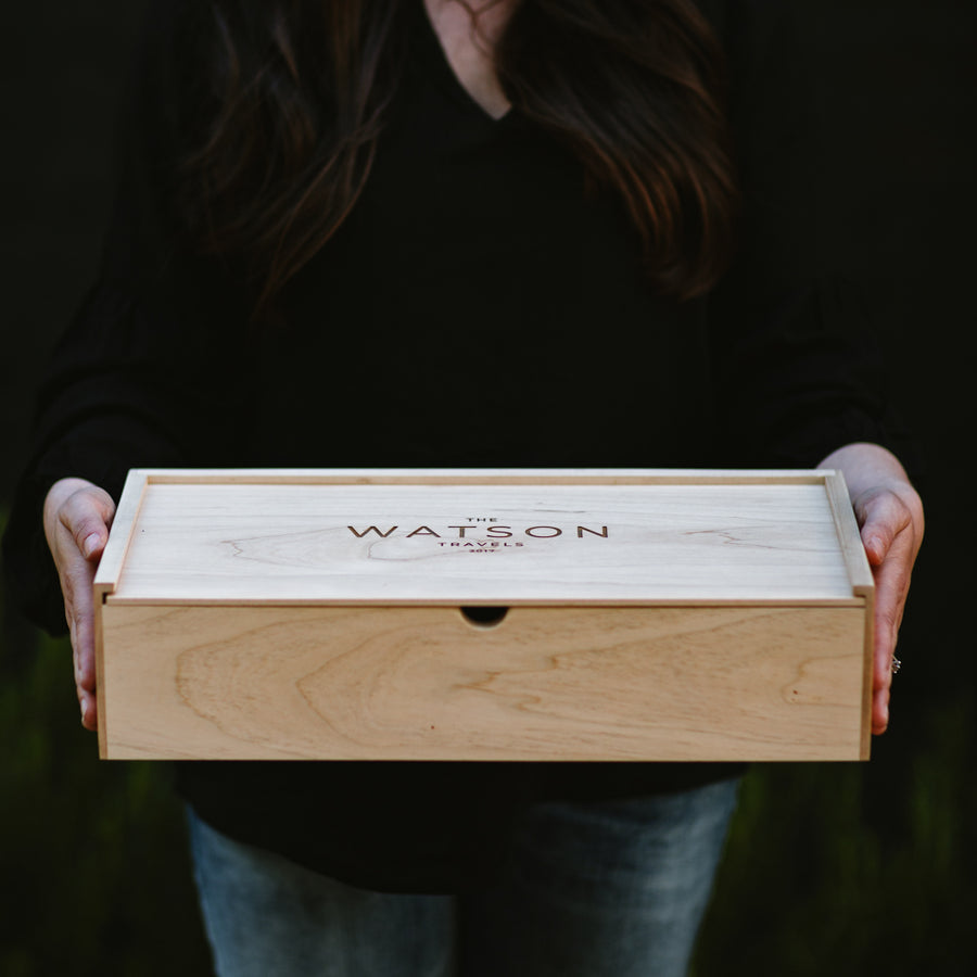 Maple Three Compartment Keepsake Box - Keepsake Boxes - Wayfaren