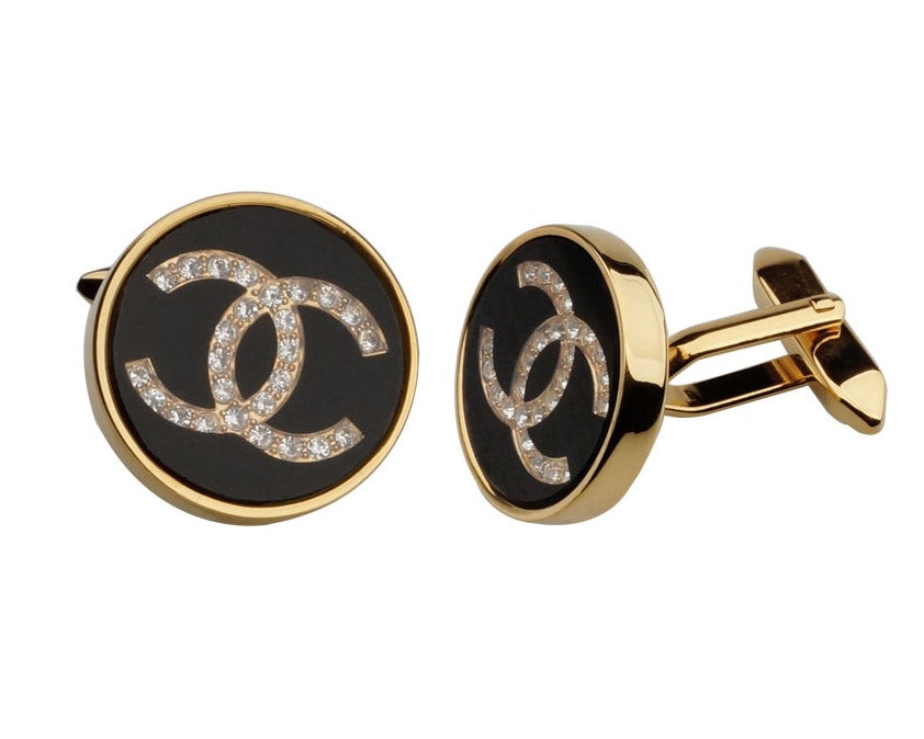 CHANEL INSPIRED GOLD PLATED CUFFLINKS