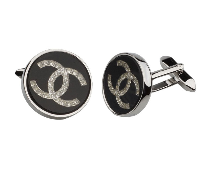 CHANEL INSPIRED SILVER PLATED CUFFLINKS