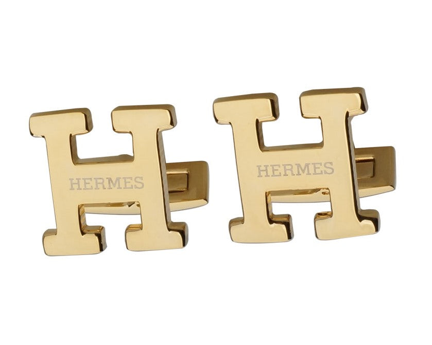 HERMES INSPIRED GOLD PLATED CUFFLINKS