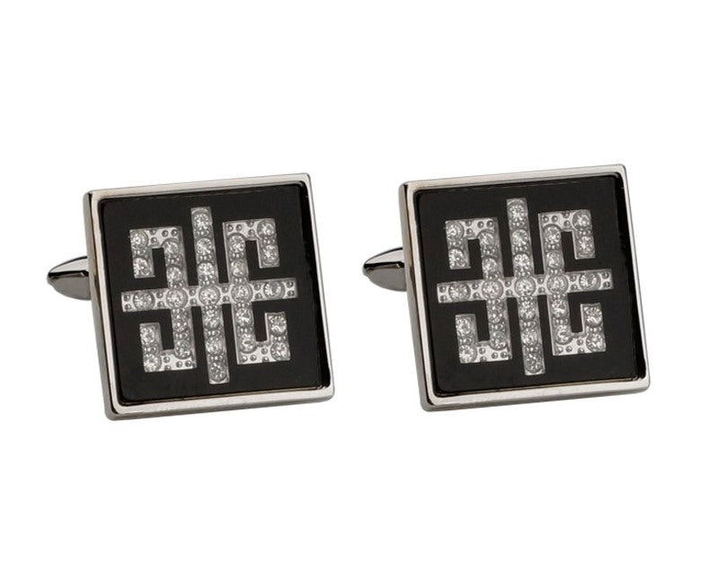 GIVENCHY INSPIRED SILVER PLATED CUFFLINKS