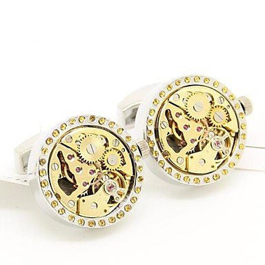Round Movement Watch Cufflinks