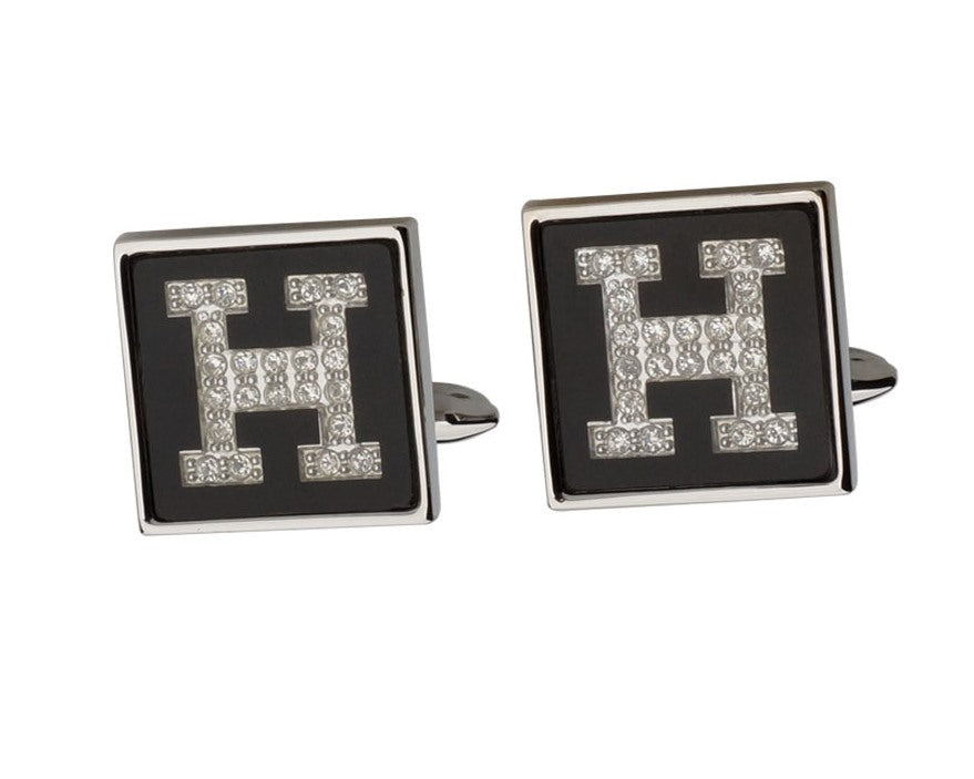 HERMES INSPIRED SILVER PLATED CUFFLINKS
