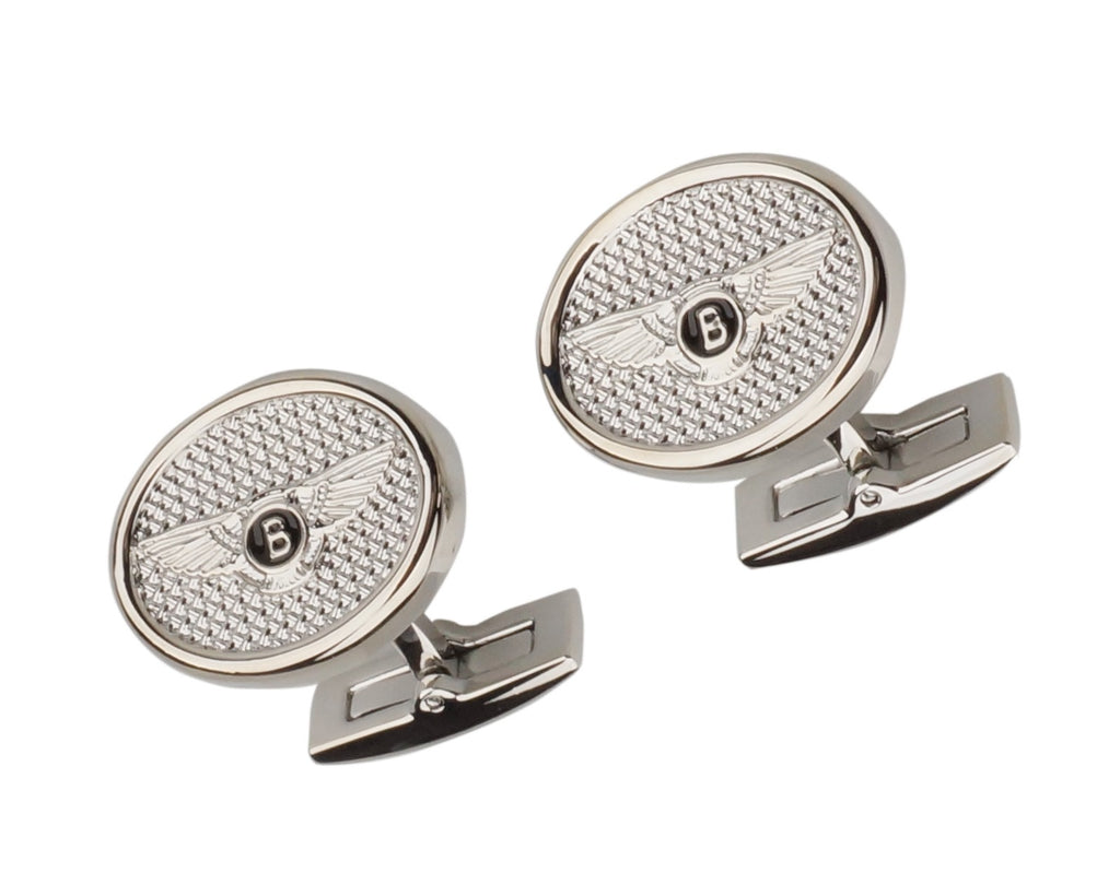 BENTLEY INSPIRED SILVER PLATED CUFFLINKS