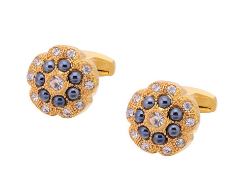 VALENTINO INSPIRED GOLD PLATED CUFFLINKS