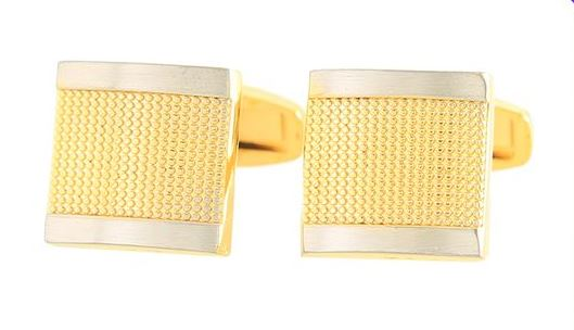 GOLD SQUARE CUFFLINKS