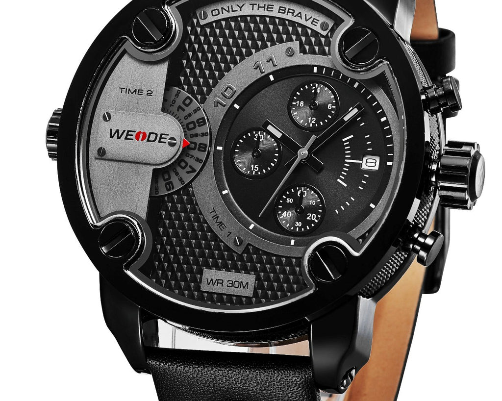 WEIDE Oversized Men's Quartz Military Watch