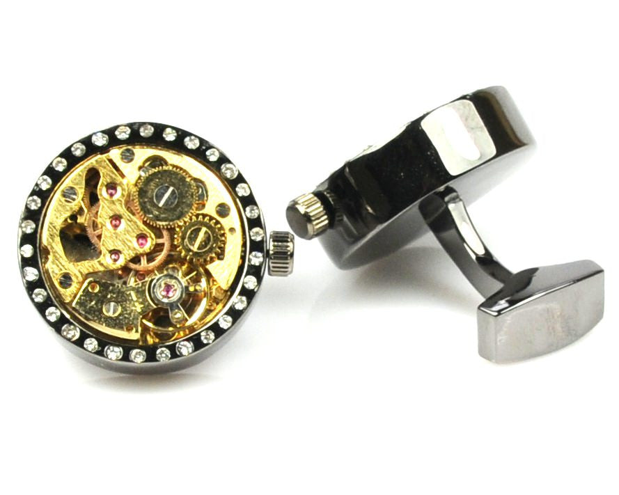 Black Movement Watch Cufflinks