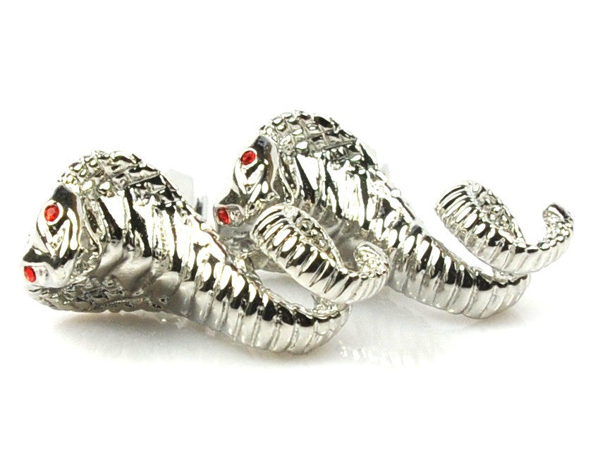 Novelty Cobra Design Cufflinks