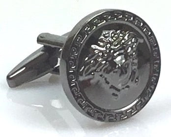 Versace inspired black gun plated cufflinks