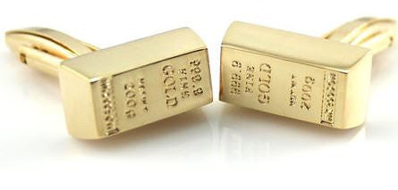Gold Brick Cufflinks