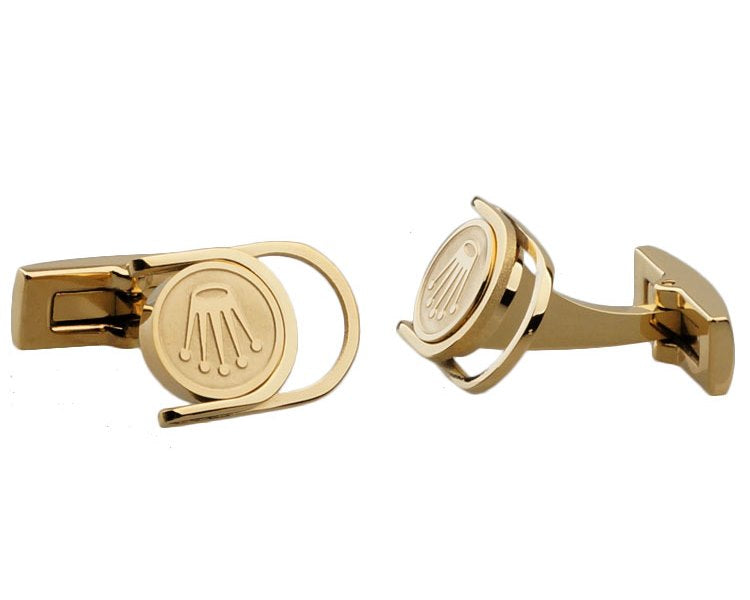 Rolex inspired gold plated cufflinks