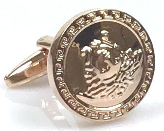 Versace inspired rose gold plated cufflinks