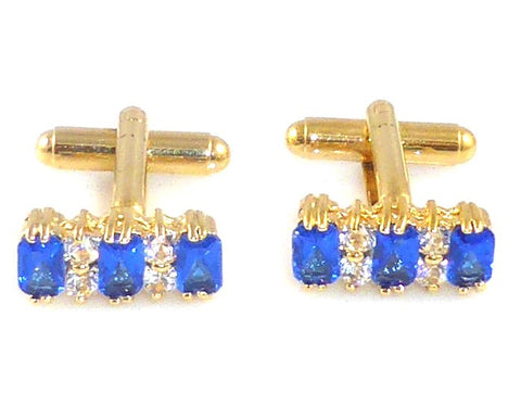 Bees cufflinks with Austrian crystals