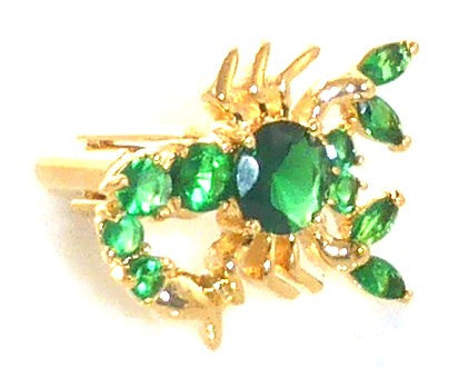 Green Emerald Scorpio Cufflinks