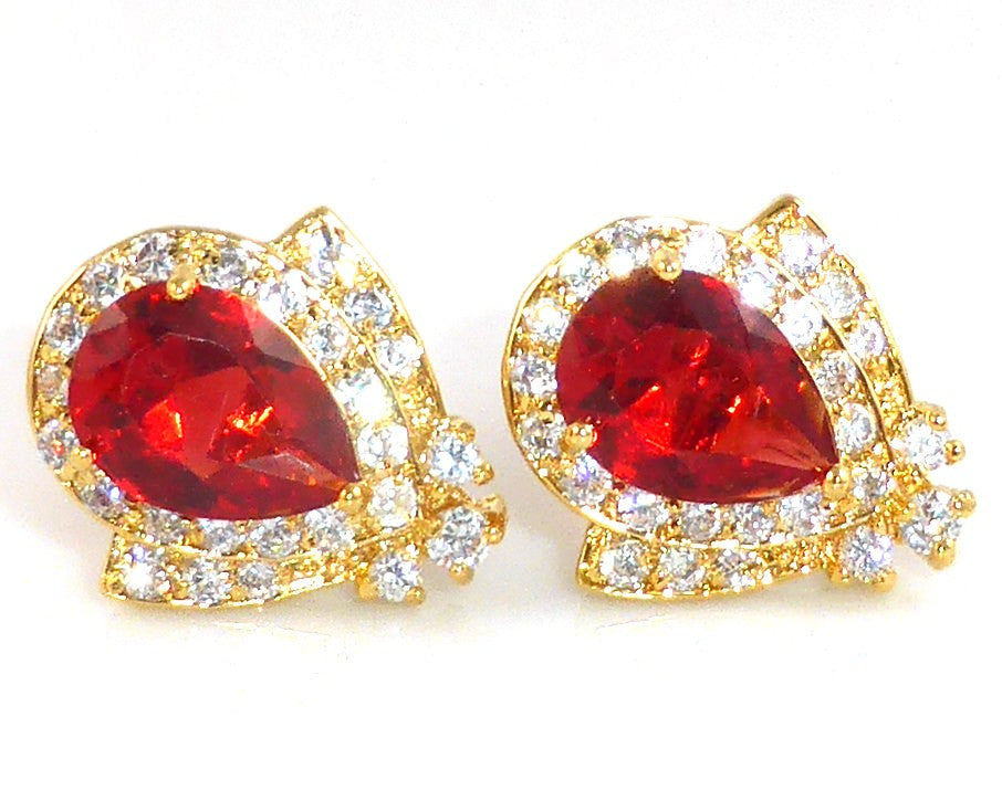 Red Garnet Ruby Topaz Cufflinks