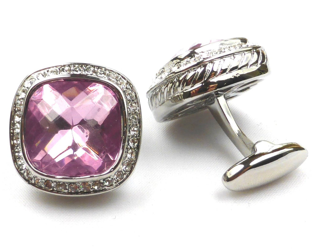 Romance Purple Crystal Cufflinks
