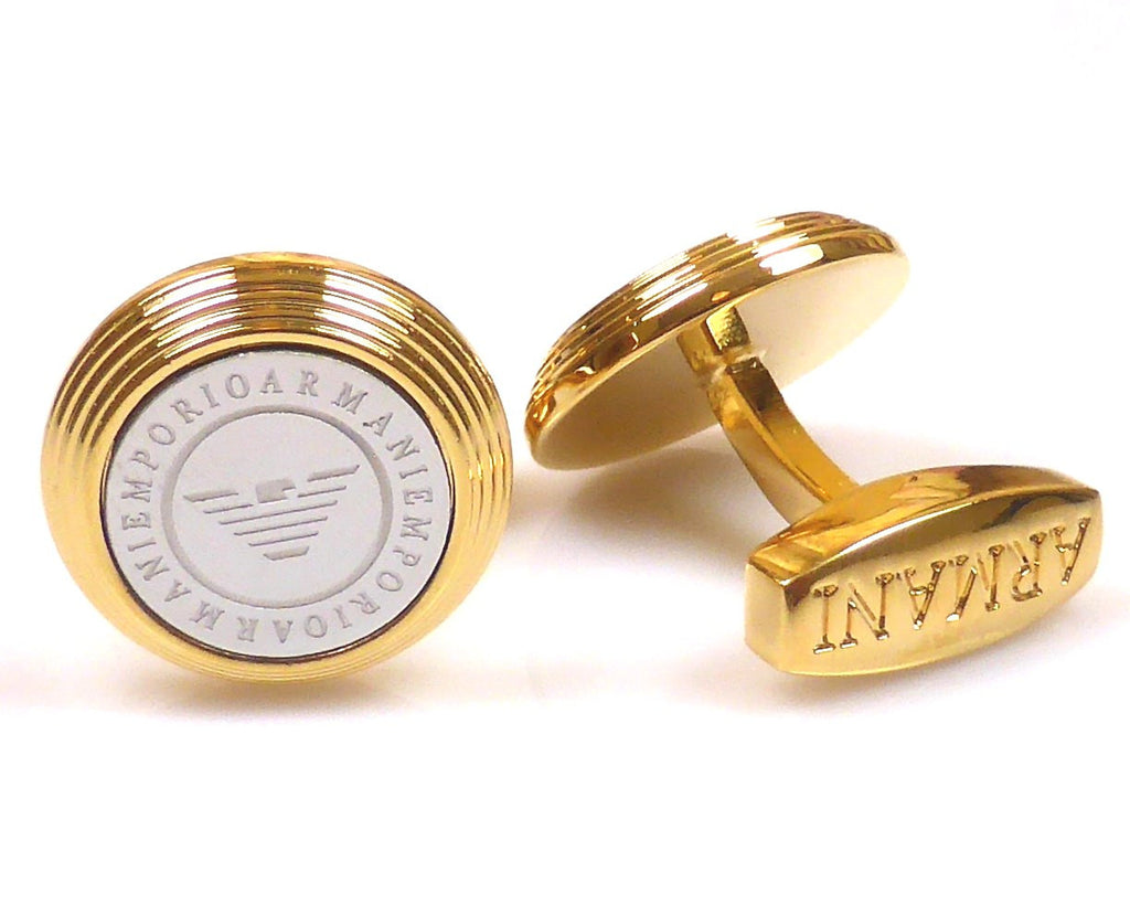 Emporio Armani inspired 18K gold plated cufflinks