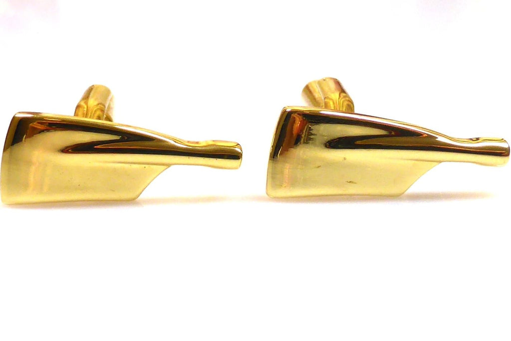 Rowing,  gold oars cufflinks