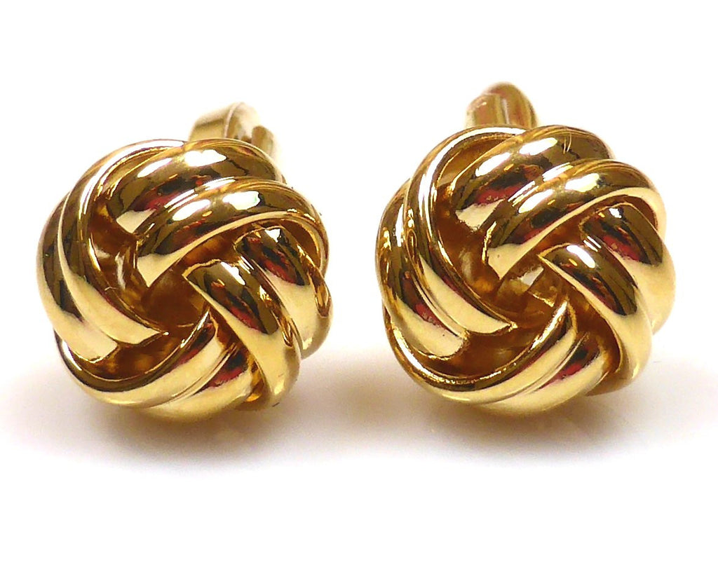 Gold Love Knot Cufflinks