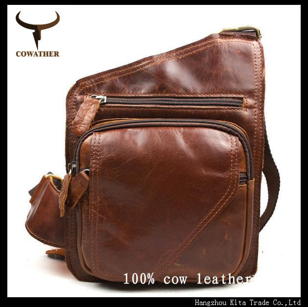 COWATHER casual shoulder messenger bag