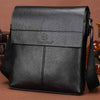 Casual leather messenger bag