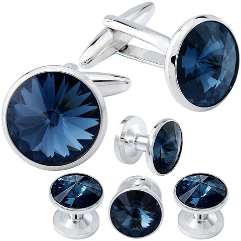 Unique cufflinks and tie bar set