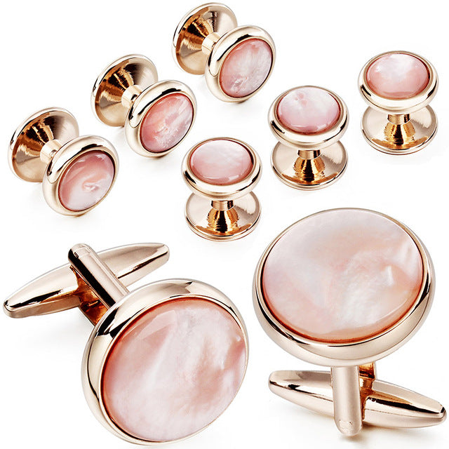 Mother of Pearl Cufflinks and Dress Studs Set