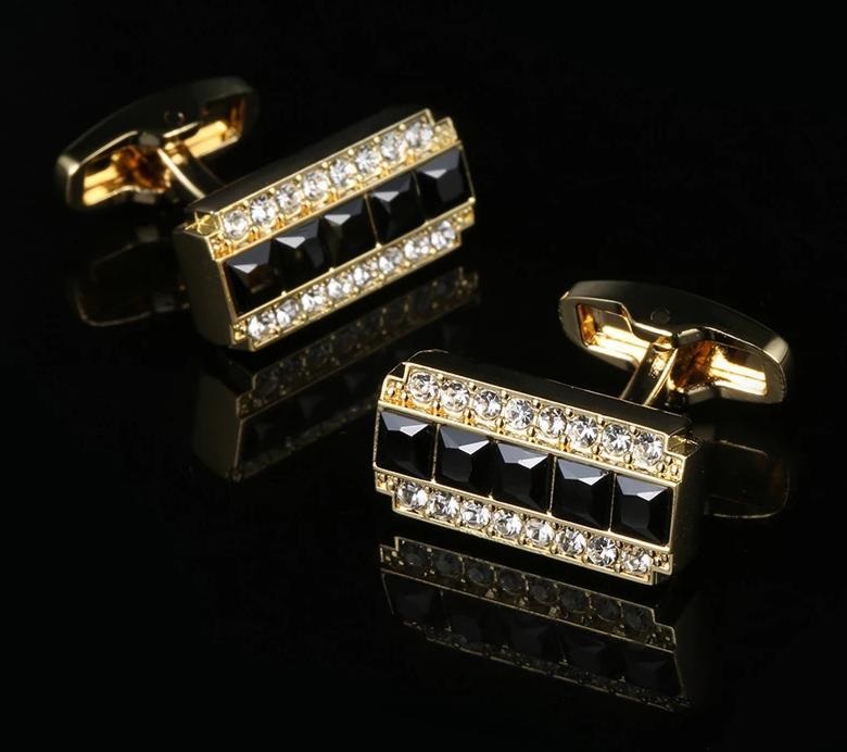 CRYSTAL GOLD CUFFLINKS