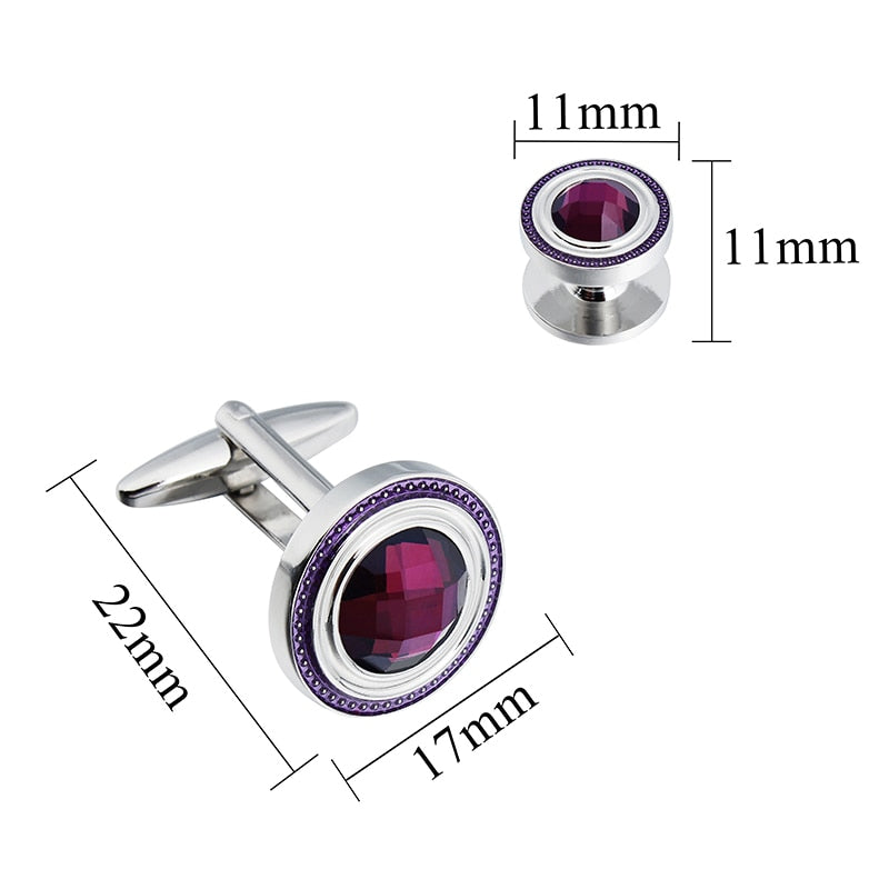 Crystal Cufflinks and Studs Sets