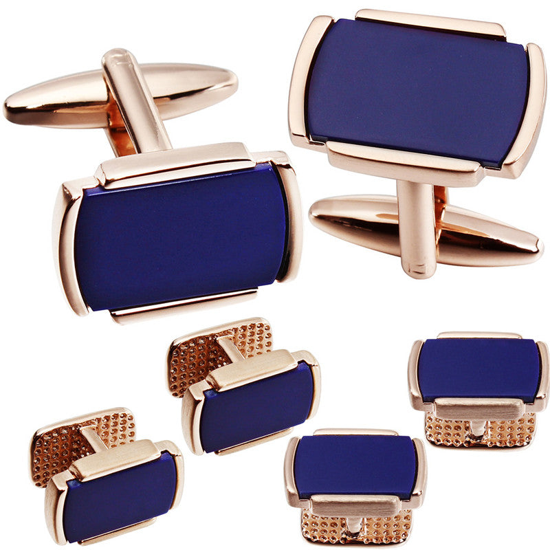 Blue Cufflinks and studs set