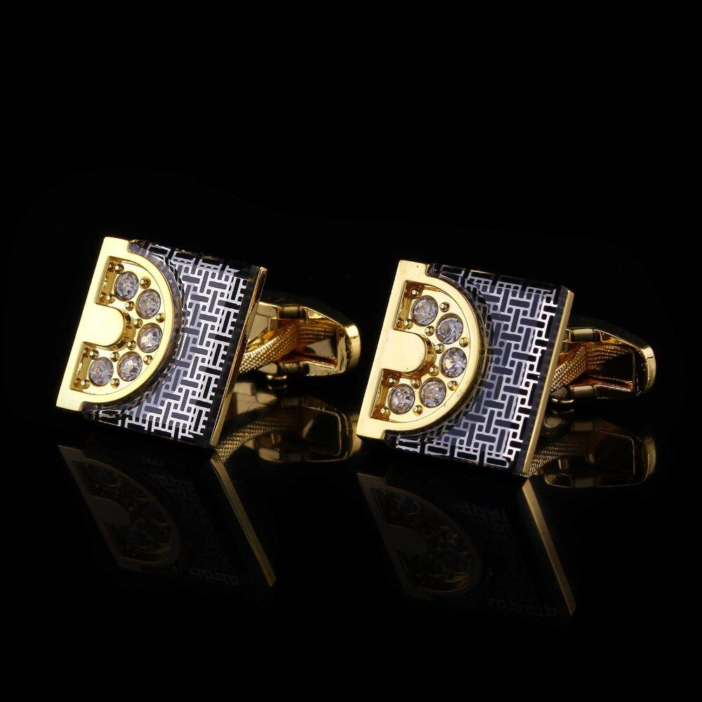 Square Gold Cufflinks