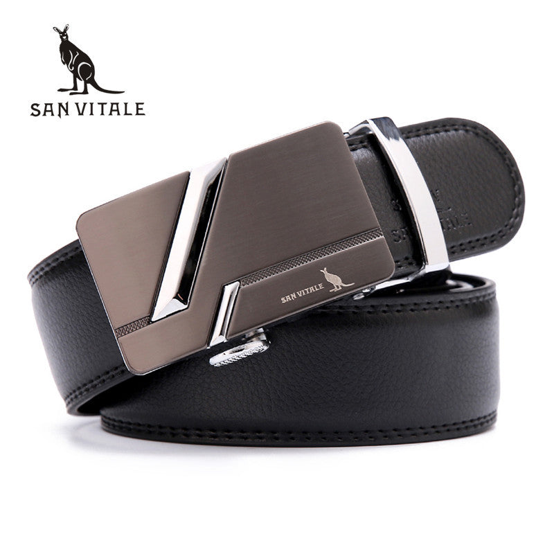 Luxury leather designer belt
