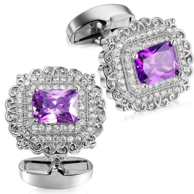 Square Crystal Cufflinks