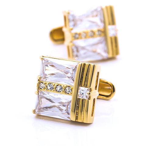 VERSACE INSPIRED GOLD PLATED CUFFLINKS