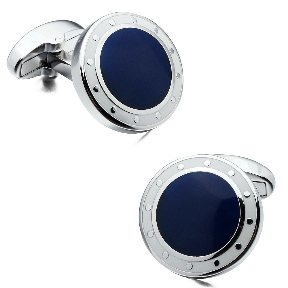 Blue & Black silver Cufflinks