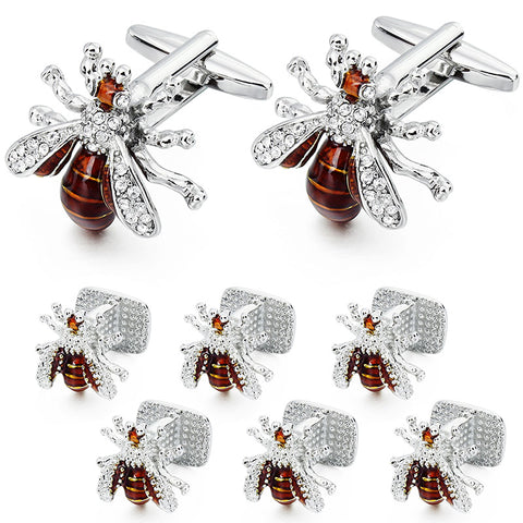 Funny and Rock Spider Cufflinks and Studs Set