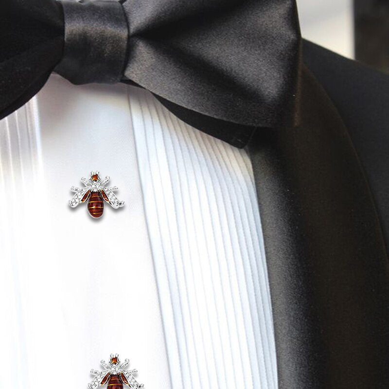 Crystal Bee Cufflinks and Studs Set