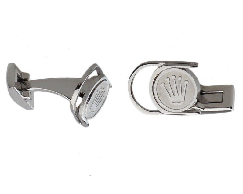 Rolex inspired silver plated cufflinks