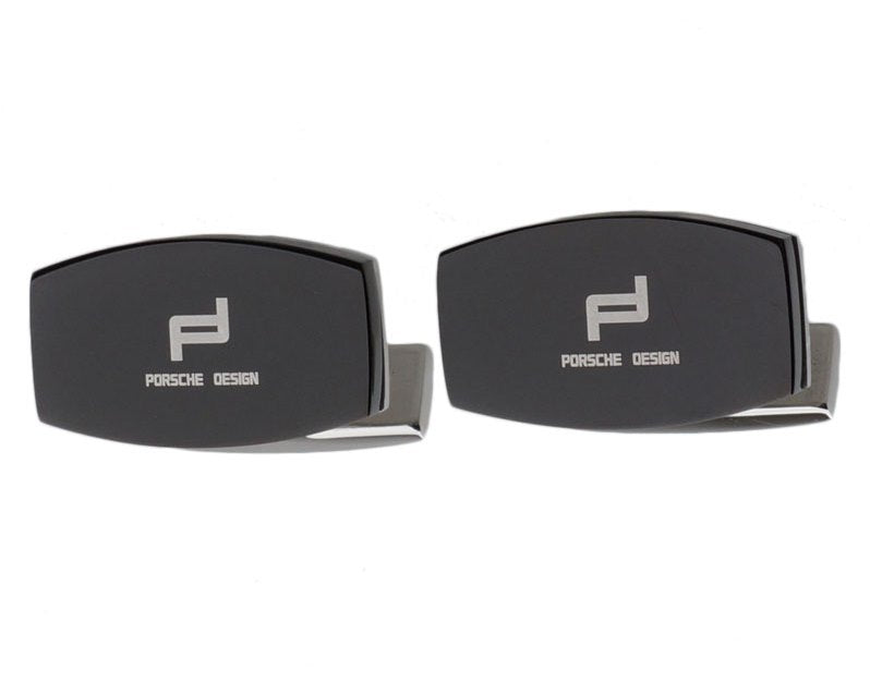 PORSCHE DESIGN INSPIRED SILVER PLATED CUFFLINKS