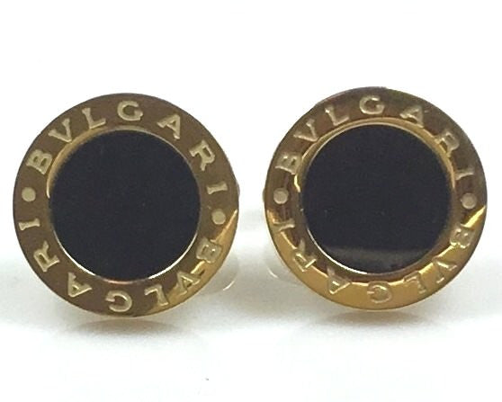Bulgari inspired gold plated cufflinks