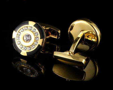 DUNHILL INSPIRED GOLD PLATED CUFFLINKS