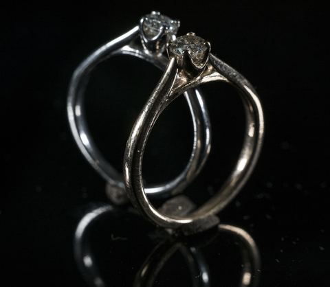 small diamond engagement ring