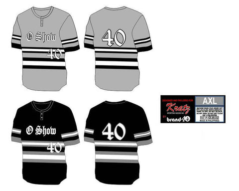 Brand40 Kratz Sporting Goods custom fully sublimated 2 button baseball uniform jersey
