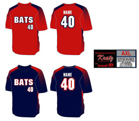 Brand40 Kratz Sporting Goods custom fully sublimated crew neck baseball uniform jersey