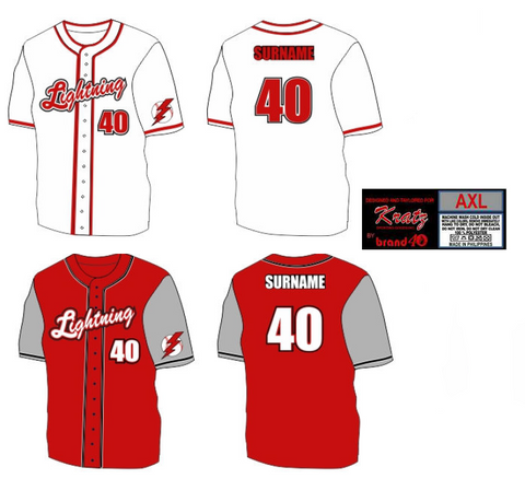 brand40 kratz sporting goods custom fully sublimated full button baseball uniform example