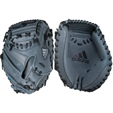 "adidas eqt cmx 33.5"" baseball catcher mitt s87572 grey black"