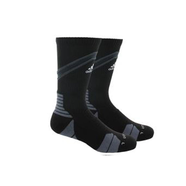 adidas traxion impact crew socks black grey 5138533 basketball sock sale closeout