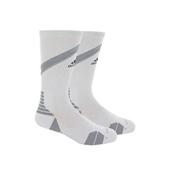 adidas traxion impact crew socks white grey 5138535 basketball sock sale closeout