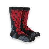 adidas traxion impact shockweb crew socks black red onix grey 5138633 basketball sock sale closeout